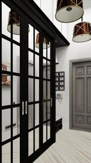 Шкаф купе массив с декоративными накладками Чита
