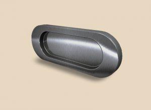 Ручка серебро глянец овальная Италия Чита