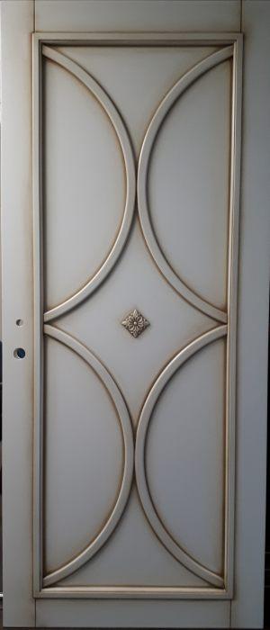 Межкомнатная дверь в профиле массив (эмаль с патиной) Чита