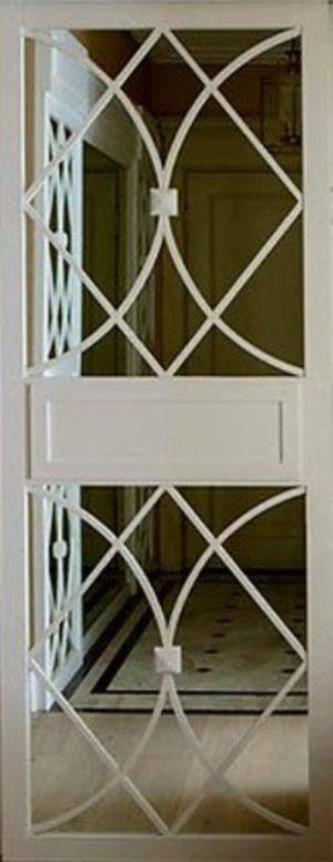 Вставка с фигурной филенкой на зеркале эмаль Чита